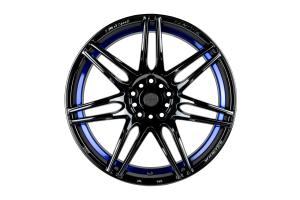 WedsSport SA-77R 5x100 Blue Light Chrome - Universal