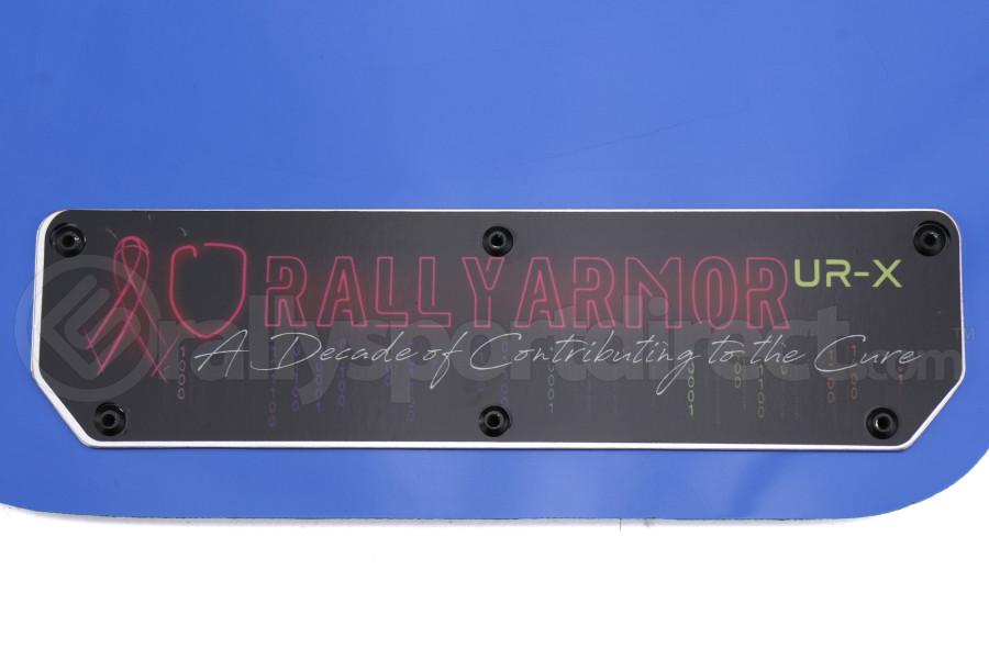 Rally Armor UR Mudflaps Breast Cancer Awarness Blue w/ Black Emblem - Subaru WRX/STI 2015+
