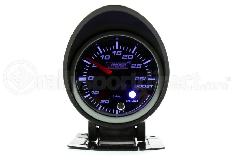 ProSport Boost Gauge Electrical w/Sender Green/White 52mm (Part Number:216SMWGBOSWL270-PK.PSI)