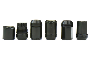 Volk Racing 2 Piece Double Locking Lug Nut Kit 12X1.25 Black ( Part Number:VOL W19DL12125B)