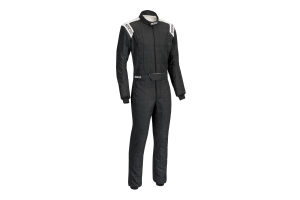 Sparco Conquest Racing Suit Black / White - Universal