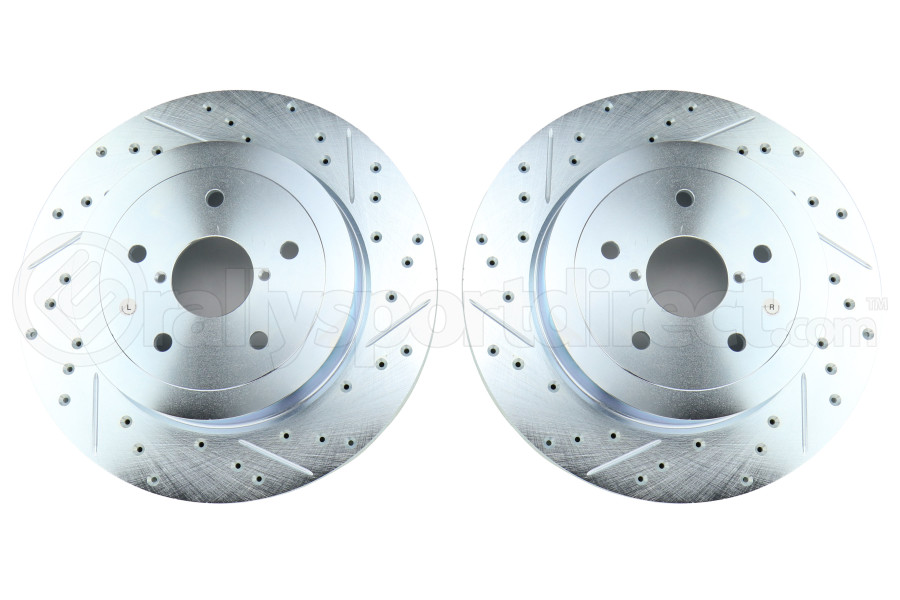 Stoptech C-Tek Sport Drilled and Slotted Rear Rotor Pair - Subaru STI 2005-2007