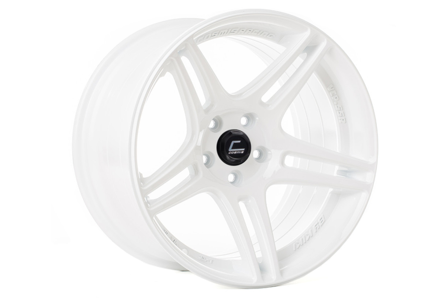Cosmis Racing Wheels S5R 17x9 +22 5x114.3 White - Universal