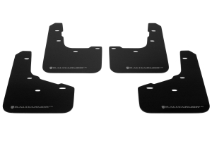 Rally Armor UR Mudflaps Black Urethane Grey Logo (Part Number: )