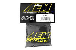 AEM DryFlow Pre-Filter Air Filter Wrap (6in Base 5.25in Top  9in Tall) - Universal