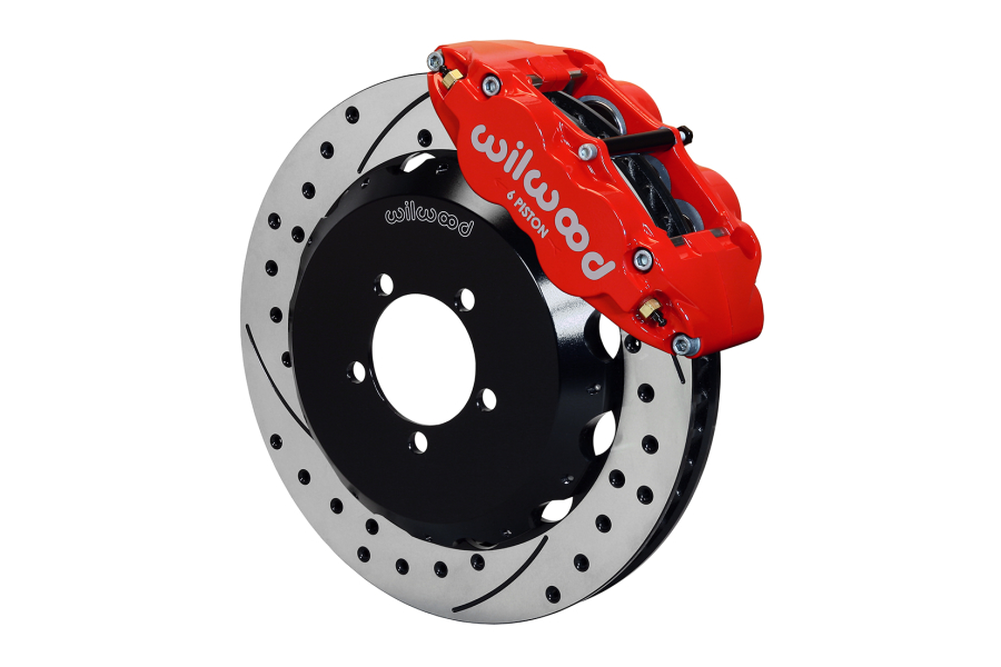 Wilwood FNSL6R 13.06in Front Kit Drilled / Slotted Red - Subaru Models (inc. 2002-2014 WRX / 2004+ STI)