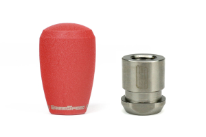 Grimmspeed Stainless Steel Red Shift Knob w/ 5SPD Boot Retainer - Subaru 5MT Models (inc. 2002-2014 WRX)