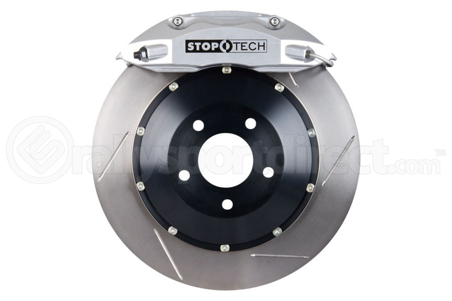 Stoptech ST-40 Big Brake Kit Front 328mm Silver Slotted Rotors (Part Number:83.841.4300.61)