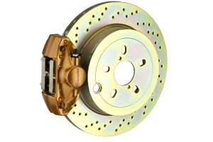 Brembo GT Systems 2 Piston Rear Gold Drilled Rotors (Part Number: )