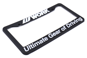 WORK Wheels License Plate Frame - Universal