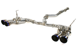 Invidia Gemini R400 Single Layer Cat Back Exhaust w/Titanium Burnt Tips - Subaru WRX 2011-2014 / STI 2011-2014