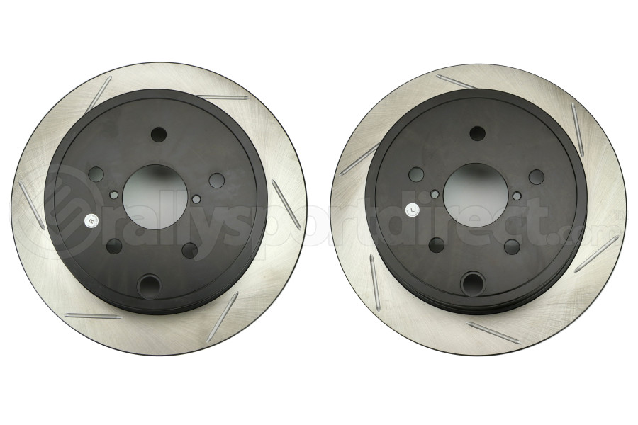 Stoptech Sport Slotted Rear Rotors Pair - Subaru WRX 2015 - 2020