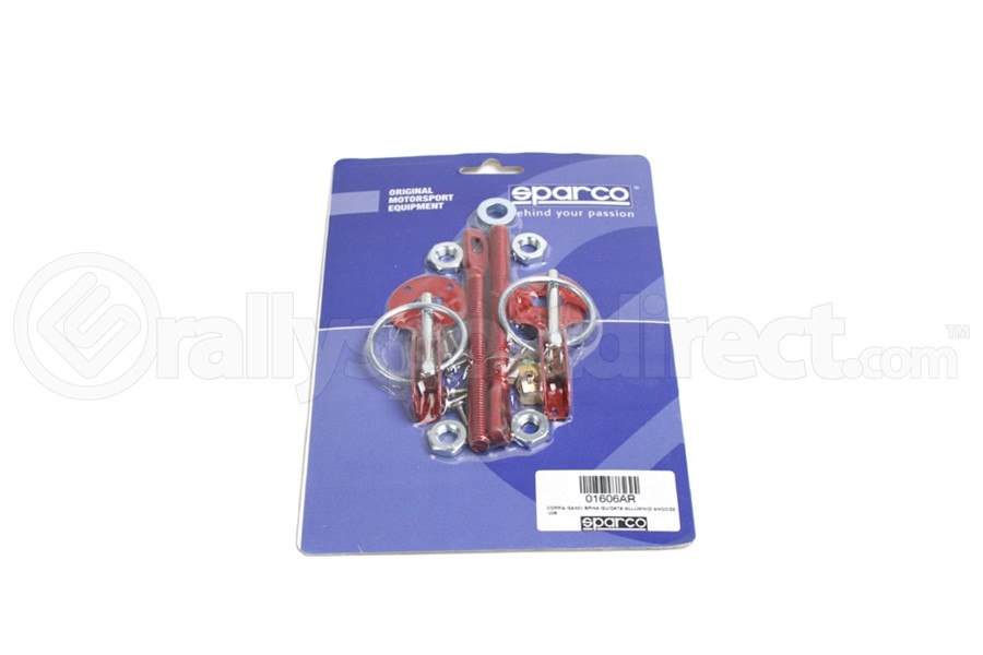 Sparco Hood Pins Red Tuning (Part Number:01606AR)