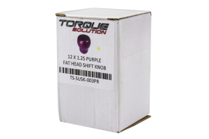 Torque Solution Fat Head Shift Knob Purple - Subaru 6MT Models (inc. 2004+ STI / 2015+ WRX)