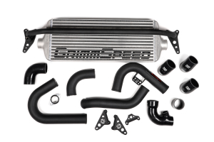 GrimmSpeed Front Mount Intercooler Kit Silver Core w/ Black Piping - Subaru WRX 2015 - 2020