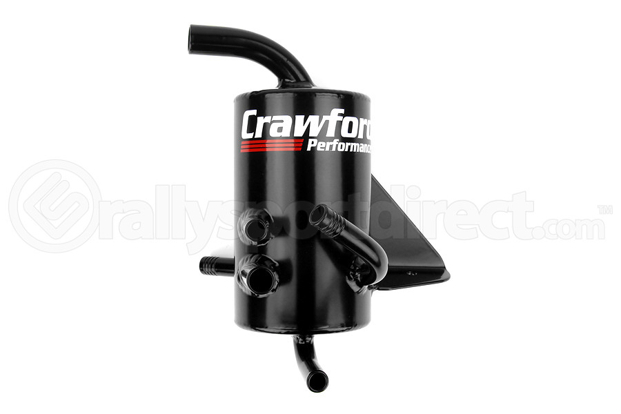 Crawford FMIC/Rotated Mount V2 Air Oil Separator Black - Subaru WRX 2008-2014 / Legacy GT 2005-2009