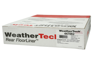Weathertech Black Rear FloorLiner (Part Number: )