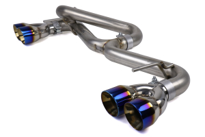 FactionFab Axle Back Exhaust w/ Burnt Tips (Hatchback) - Subaru WRX 2011 - 2014 / STI 2008 - 2014