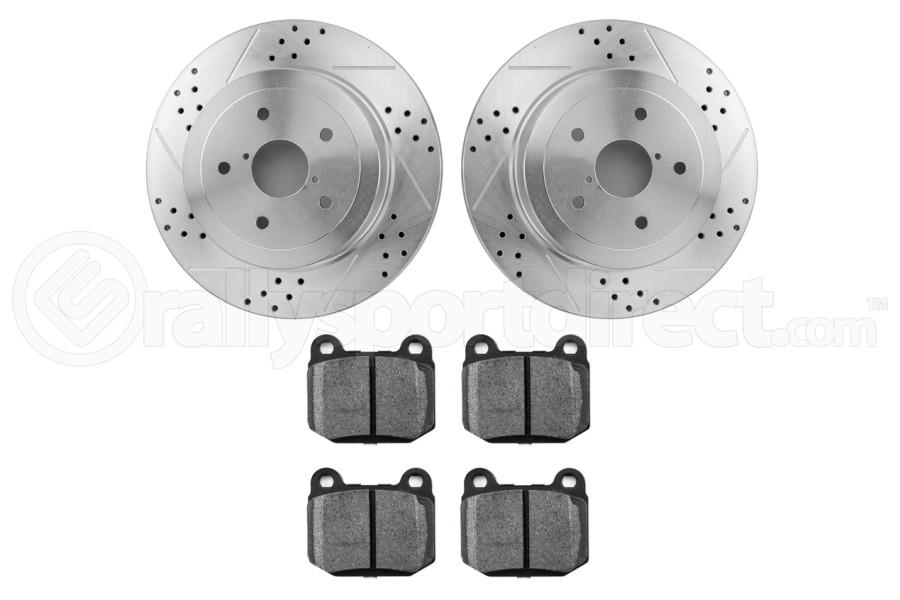 Hawk Performance Rotors w/ HPS 5.0 Pads Kit (Part Number:HK4915.180B)