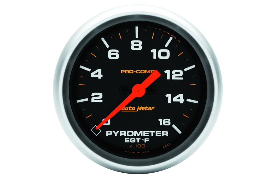 Autometer Pro-Comp EGT Exhaust Gas Temperature Gauge 2-5/8in - Universal