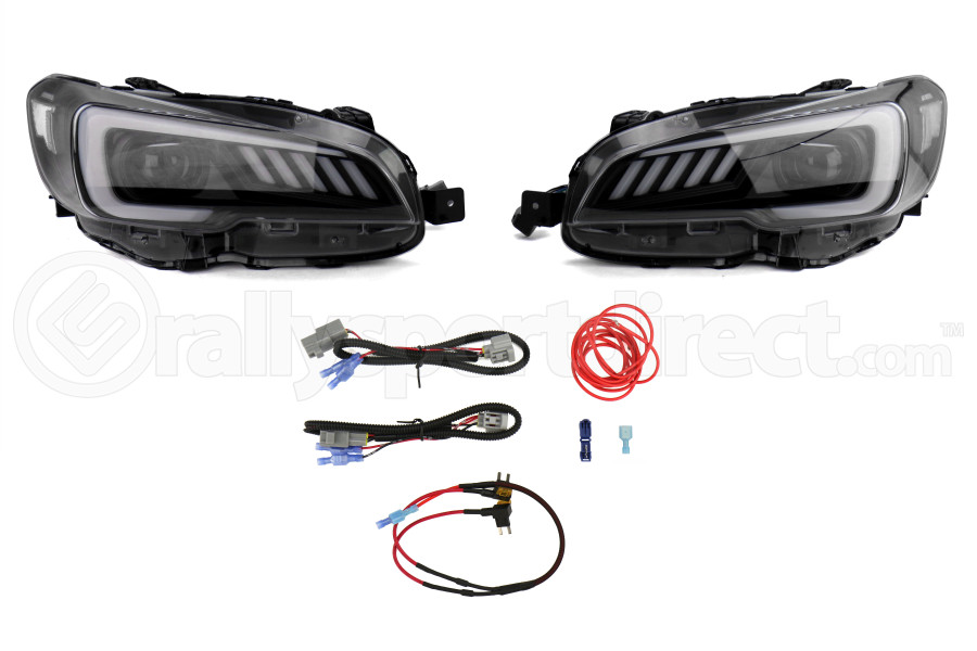 SubiSpeed LED Euro Headlights DRL and Sequential Turn Signals w/ Hardware  Kit