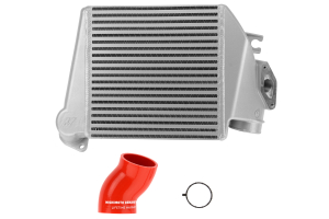 Mishimoto Silver Top Mount Intercooler w/ Red Hose - Subaru WRX 2008-2014