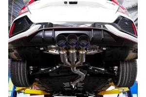 Invidia Gemini R400 Cat Back Exhaust w/Titanium Burnt Tips - Honda Civic Type R 2017+