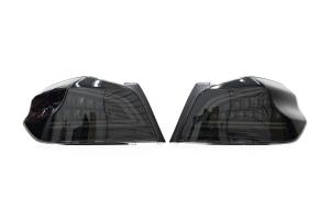 OLM Spec CR Sequential Tail Lights Smoked Lens / Black Base - Subaru WRX / STI 2015+