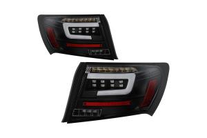 Spyder LED Tail Lights Black - Subaru WRX / STI Sedan 2008-2011