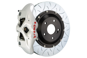 Brembo GT Systems Monobloc 4 Piston 345mm Type 3 Slotted White - Honda Civic Type R/SI 2017+