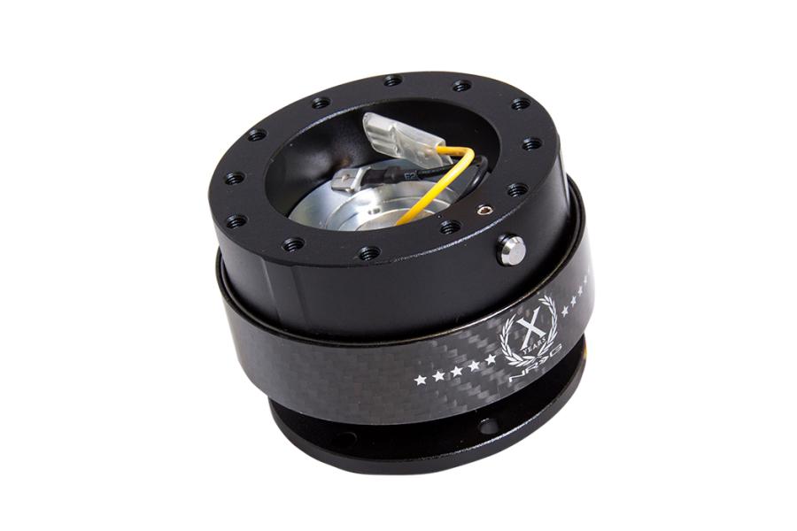 NRG Quick Release 2.0 Black / Black Carbon Fiber - Universal