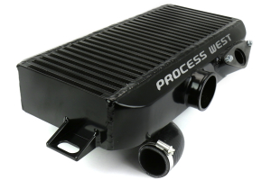 Process West Top Mount Intercooler w/Shroud Kit Black - Subaru WRX 2004-2007 / STI 2006-2007