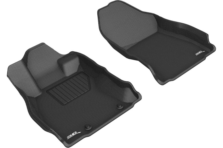 3D MAXpider KAGU Front Floor Liners Black - Subaru Forester 2019-2021