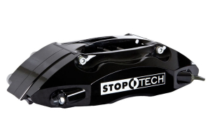Stoptech ST-40 Big Brake Kit Front 345mm Black Zinc Slotted Rotors (Part Number: )