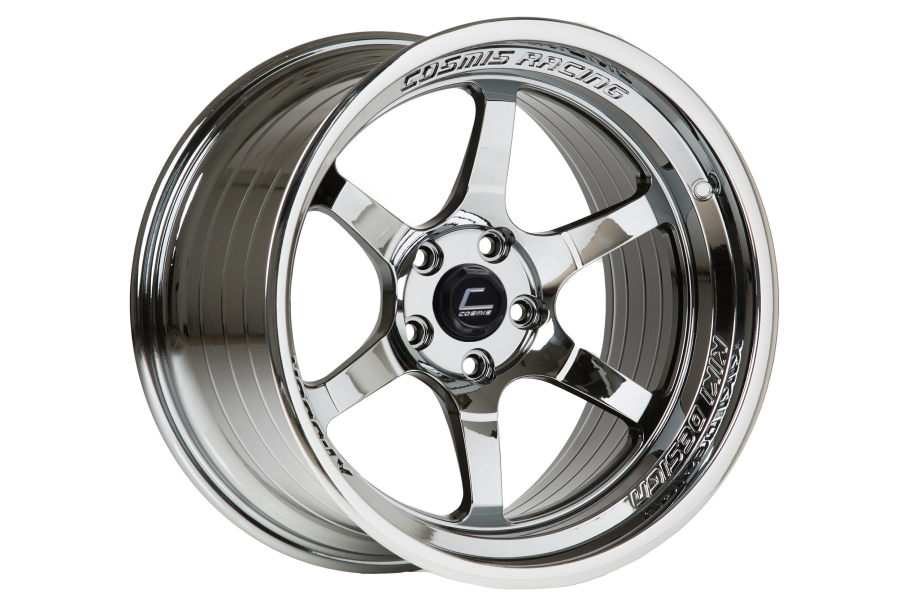 Cosmis Racing XT006R 18x9 +30 5x100 Black Chrome - Universal