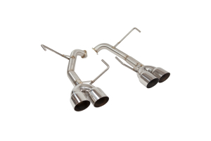 Nameless Performance Muffler Delete Single Wall Polished Tips - Subaru WRX/STI Sedan 2011-2014