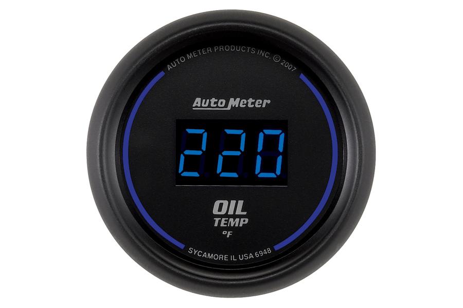 Autometer Cobalt Oil Temperature Gauge Digital Blue LED 52mm - Universal