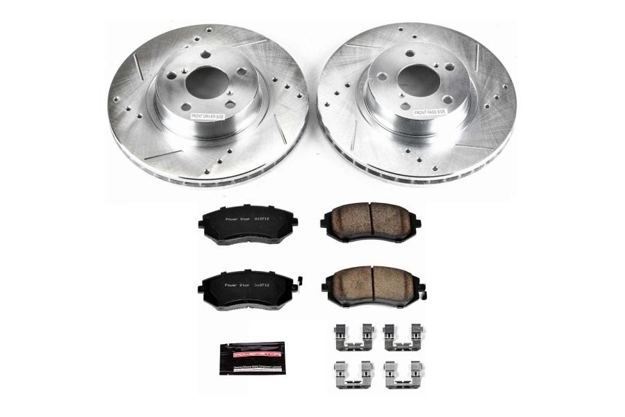 Power Stop Z23 Evolution Coated Brake Kit Front - Subaru Models (inc. 2002-2010 Impreza / 2002-2004 Legacy)