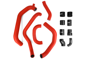 PERRIN Boost Tube Kit Red Piping Black Couplers (Part Number: PSP-ITR-430-2RD/BK)