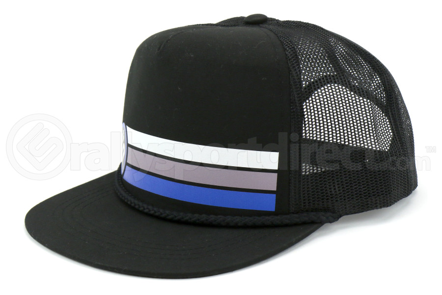 RallySport Direct Stripes Trucker Snap Back Hat (Part Number:20031)