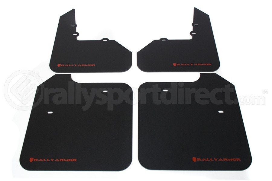 Rally Armor Classic Mud Flaps Red Logo ( Part Number:RAL MF3-RD)