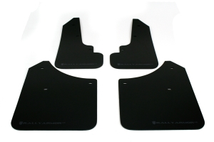 Rally Armor UR Mudflaps Black Urethane Grey Logo ( Part Number:RAL MF5-UR-BLK/GRY)