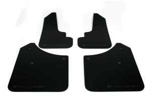 Rally Armor UR Mudflaps Black Urethane Grey Logo  ( Part Number: MF5-UR-BLK/GRY)