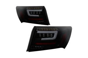 Spyder LED Tail Lights Black Smoke - Subaru WRX / STI Sedan 2008-2011