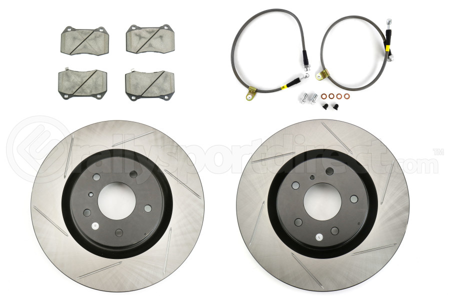 Stoptech Sport Kit w/ Brembo Brakes Front Slotted (Part Number:977.42002F)