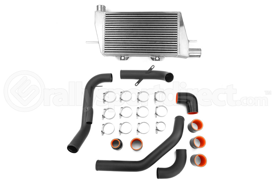 ETS Front Mount Intercooler Black Piping Silver Core (Part Number:200-08WB)