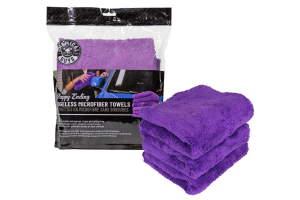 Chemical Guys Happy Ending Edgeless Microfiber Towel Purple (3 Pack) - Universal