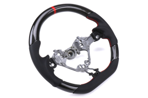 FT86SF CR Style Carbon Fiber / Leather Steering Wheel - Subaru BRZ 2017+ / Toyota 86 2017+