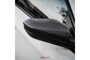 Seibon Carbon Fiber Mirror Covers - Honda Civic 2016+