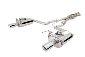 X-Force Stainless Steel Cat-Back Exhaust System w/ Varex Oval Tipped Muffllers - Ford Mustang 2015-2017